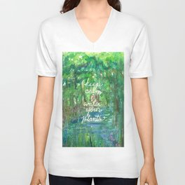 Keep Calm & Water Your Plants Unisex V-Neck
