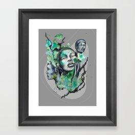COSMOPOLITAN by carographic, Carolyn Mielke Framed Art Print