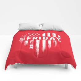 Red Friday Distressed USA Heart Military Comforters