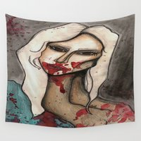 ahs Wall Tapestries featuring The Countess // For Hayley by Bloodelf