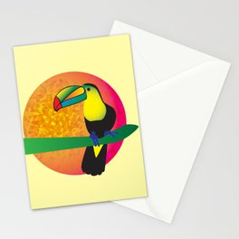 Toucan -Yellow Stationery Cards