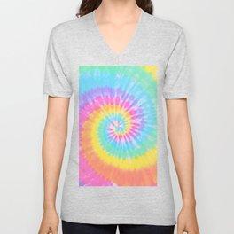 Rainbow Tie Dye Unisex V-Neck