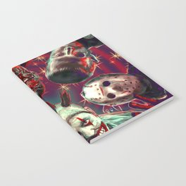 Twisty Jigsaw Jason Voorhees Terminator Psychedelic Spook Show Notebook