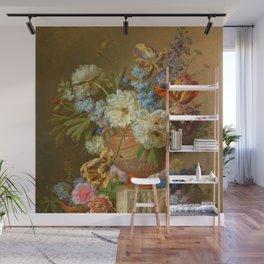"Gerard van Spaendonck ""Flower Still-life with an Alabaster Vase"" Wall Mural"