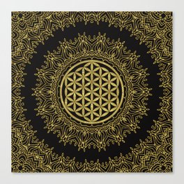 Flower Of Life Mandala Canvas Print