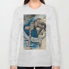 William Blake - Antaeus setting down Dante and Virgil in the Last Circle of Hell Long Sleeve T-shirt