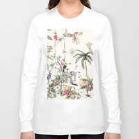 jungle Long Sleeve T-shirts featuring Jungle by Annet Weelink Design