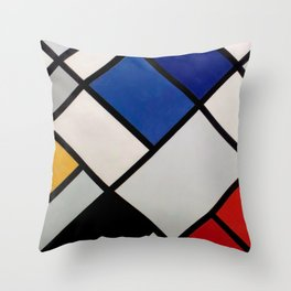 Theo van Doesburg - Contra-Compositions of Dissonances XVI - Abstract De Stijl Painting Throw Pillow