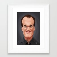 quentin tarantino Framed Art Prints featuring Celebrity Sunday ~ Quentin Tarantino by rob art | illustration