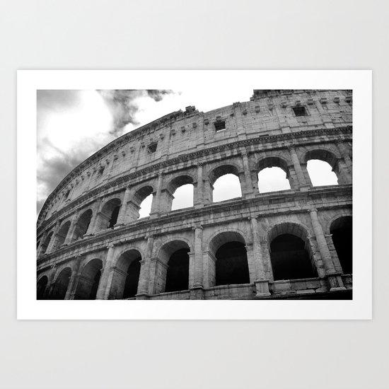 The Colosseum, Rome, Italy. Art Print