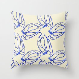 Seaweed Abstract Throw Pillow
