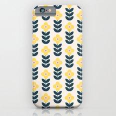 Vintage geometric flowers iPhone 6s Slim Case