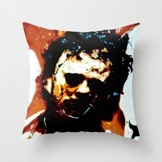 Leatherface Throw Pillow