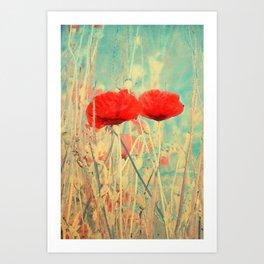 Poppies vintage(3) Art Print
