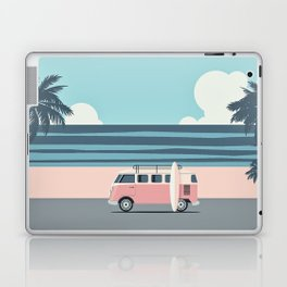 Surfer Graphic Beach Palm-Tree Camper-Van Art Laptop & iPad Skin