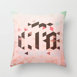 Triangel and Texture Design Throw Pillow