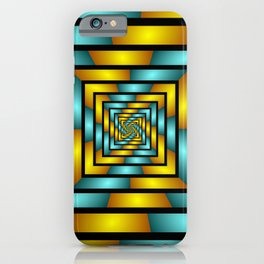 Colorful Tunnel 2 Digital Art Graphic iPhone Case