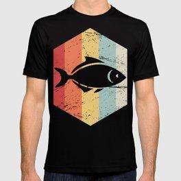 Retro 70s Fish Aquarium Icon T-shirt