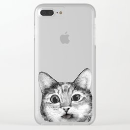silly cat Clear iPhone Case