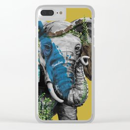 Sumatran Elephant Clear iPhone Case