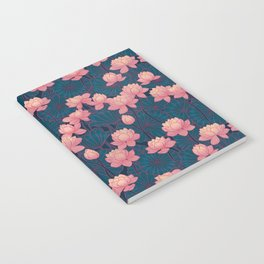 water lily lotus pink Notebook