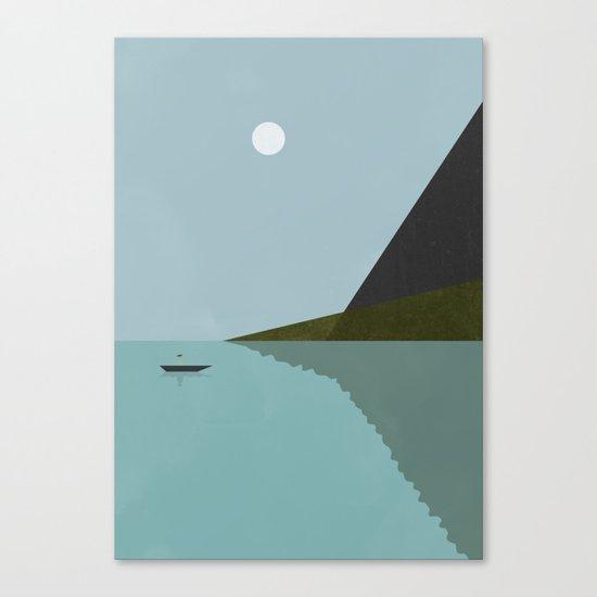 Sailing at night Canvas Print