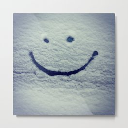 Snow Smile Metal Print