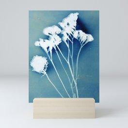 Blue Strawflower Mini Art Print