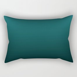 Gradient Collection - Deep Teal Turquoise - Accent Color Decor - Lowest Price On Site Rectangular Pillow