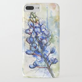 Spring Watercolor Texas Bluebonnet Flowers iPhone Case