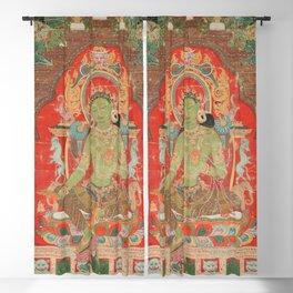 Green Tara 13th Century Tibetan Art Blackout Curtain
