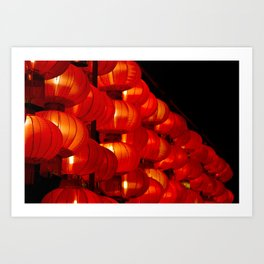 Vibrant red Chinese lanterns Art Print