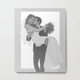 Peter and MJ wedding Metal Print