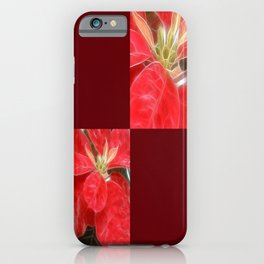 Mottled Red Poinsettia 1 Ephemeral Blank Q10F0 iPhone Case