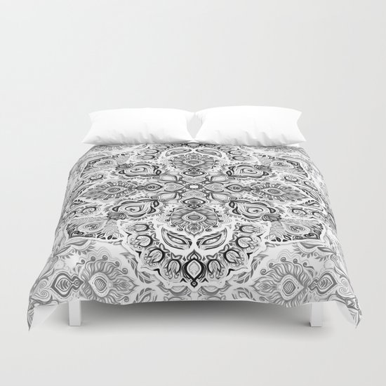 Pattern in Black & White Duvet Cover