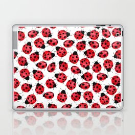 Watercolor Lady Bugs - Red Black Watercolor Insects Laptop & iPad Skin