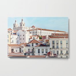 A View of the Alfama from Portas do Sol,  Lisbon, Portugal Metal Print