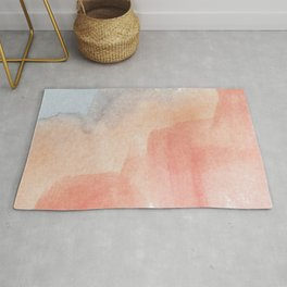 Watercolor Red Green Blue Pattern Pastel Colors Rug
