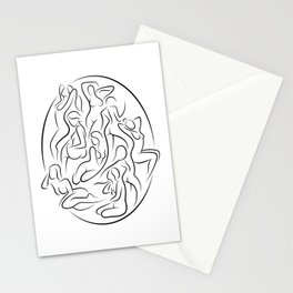 Ladies in Lines 2 Stationery Cards