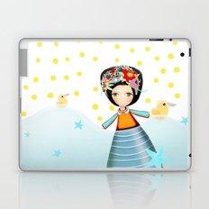 Frida and Ducks Yellow Polka Dots Laptop & iPad Skin