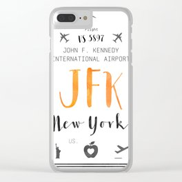 JFK airport code Mango Clear iPhone Case