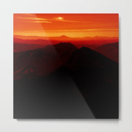 Red Horizon, Fire in the Distance. Metal Print