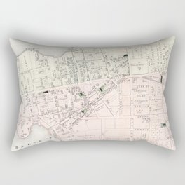Vintage Map of Astoria NY (1873) Rectangular Pillow