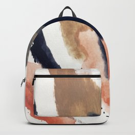 Drift Away [2] - a mixed media abstract piece in pink, brown, and purple Backpack