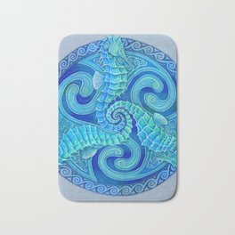 Seahorse Triskele Celtic Mandala Bath Mat
