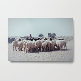 Shepherd and Flock Metal Print