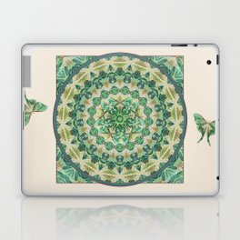 Luna Moth Meditation Mandala Laptop & iPad Skin