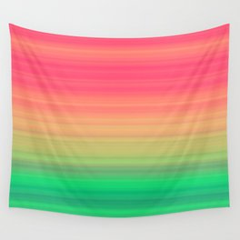 Tropical stripes Summer pattern Wall Tapestry