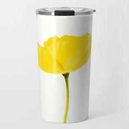 Yellow Poppy White Background #decor #society6 #buyart Travel Mug