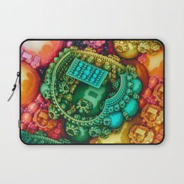 In the Garden. 3d Abstract Design Laptop Sleeve